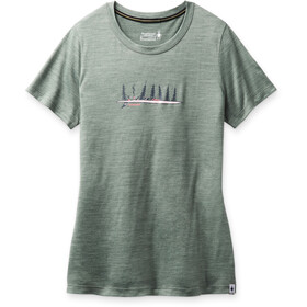 Smartwool Merino Sport 150 Shirt Camping with Friends Graphic Women, sage heather